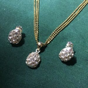 Jewelry - Golden Gem Necklace and Earring Set